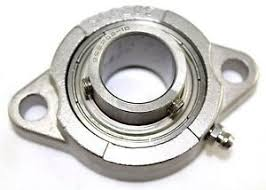 1 EA Replacement 2-Hole 1.25 Inch Auger Bearing for SaltDogg Spreader